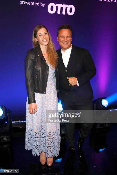 Janina Lin Otto and Guido Maria Kretschmer during the Guido Maria Kretschmer Fashion Show Autumn/Winter 2017 presented by OTTO at Tempodrom on July...