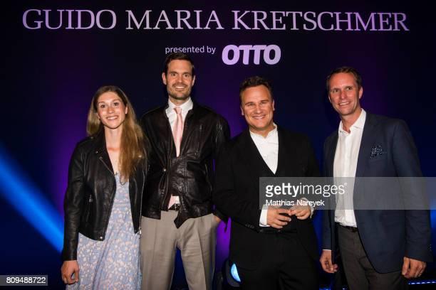Janina Lin Otto Benjamin Otto Guido Maria Kretschmer and Michael Heller attend the Guido Maria Kretschmer Fashion Show Autumn/Winter 2017 at...