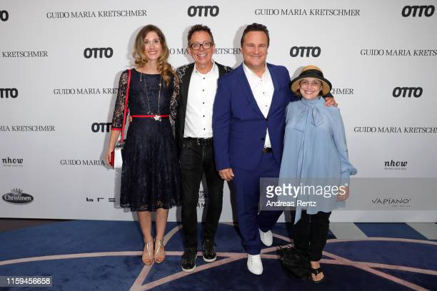 Janina Lin Otto Frank Mutters Katharina Thalbach and Guido Maria Kretschmer attend the after show party of Guido Maria Kretschmers show during the...