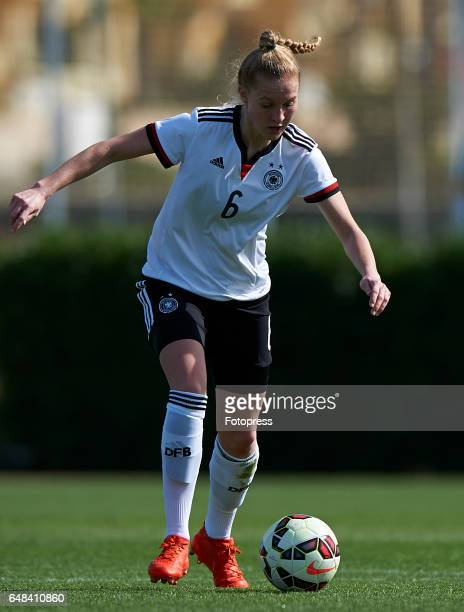 Janina Minge of Germany in action during the international friendly match between Germany Women U19 and USA Women U19 at La Manga Club on March 5...