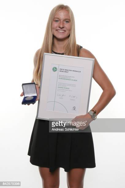 Janina Minge Winner of Silver FritzWalterMedaille during the FritzWalterMedaille Awarding Ceremony on September 4 2017 in Stuttgart Germany