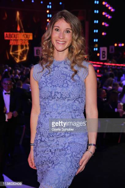 Janina Otto, wife of Benjamin Otto during the 3rd ABOUT YOU Awards at Bavaria Studios on April 18, 2019 in Munich, Germany.