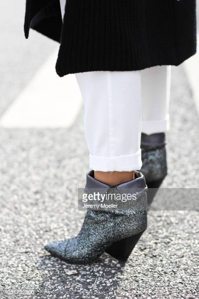 Janina Pfau wearing Isabel Marant boots on October 08 2018 in Hamburg