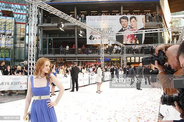 Janina Stopper Bei Der Premiere Von Verliebt In Die Braut Im Cinestar Am Potsdamer Platz In Berlin Am 130508