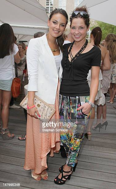 Janina Uhse and Maria Wedig attend the Gala Fashion Brunch at the Ellington Hotel, Nuernberger Strasse 50-55, on July 7, 2012 in Berlin, Germany.