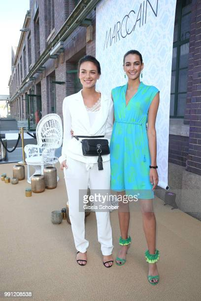 Janina Uhse and Model Talia Graf niece of Steffi Graf during the Marc Cain Fashion Show Spring/Summer 2019 at WEEC Westhafen on July 3 2018 in Berlin...