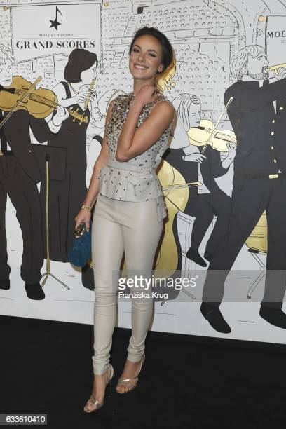 Janina Uhse attends Moet Chandon Grand Scores 2017 at Umspannwerk on February 2 2017 in Berlin Germany