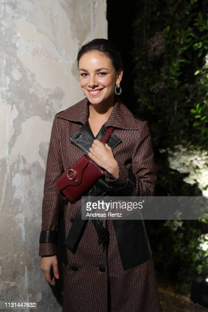 Janina Uhse attends the Aigner show at Milan Fashion Week Autumn/Winter 2019/20 on February 22 2019 in Milan Italy