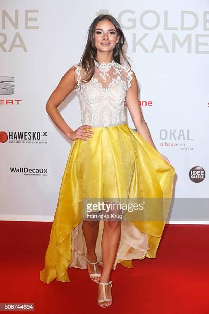 Janina Uhse attends the Goldene Kamera 2016 on February 6 2016 in Hamburg Germany