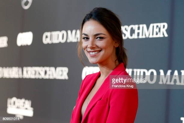 Janina Uhse attends the Guido Maria Kretschmer Fashion Show Autumn/Winter 2017 presented by OTTO at Tempodrom on July 5, 2017 in Berlin, Germany.
