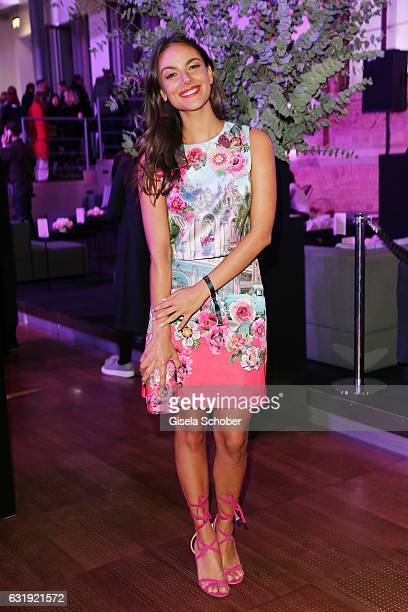 Janina Uhse attends the Marc Cain fashion show A/W 2017 at Deutsche Telekom representation on January 17 2017 in Berlin Germany