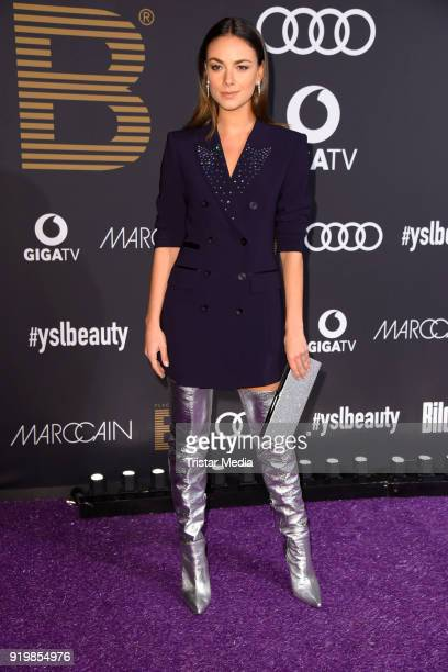 Janina Uhse attends the PLACE TO B Party on February 17 2018 in Berlin Germany