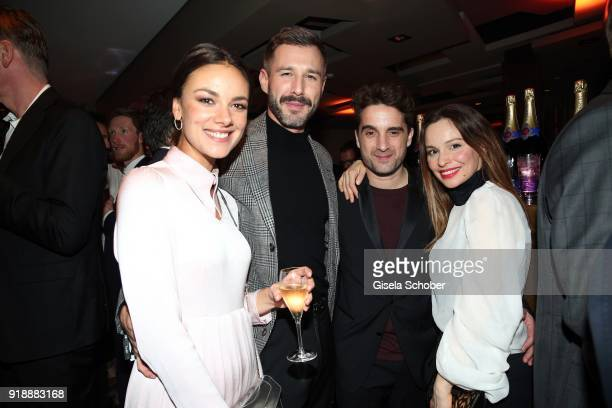 Janina Uhse Jochen Schropp Oliver Wnuk and Mina Tander during the Berlin Opening Night by GALA and UFA Fiction at Das Stue on February 15 2018 in...