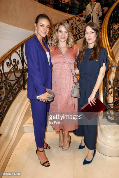 Janina Uhse, Laura Osswald and Birte Wolter attend the Medienboard Berlin-Brandenburg Reception on the occasion of the 69th Berlinale International...