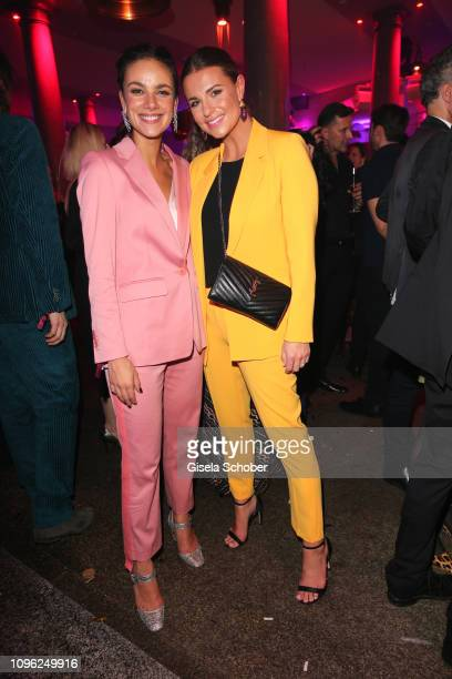 Janina Uhse Laura Wontorra during the BUNTE BMW Festival Night at Restaurant Gendarmerie during the 69th Berlinale Filmfestival on February 8 2019 in...