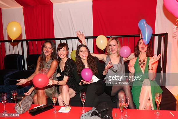 Janina Uhse Maike von Bremen EvaMaria Reichert Judith Richter and Anneke Schwabe during the Bild 'Place to B' Party at Borchardt during the 66th...