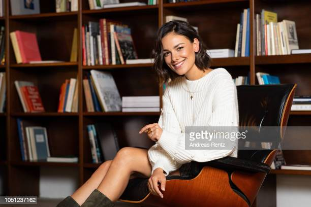 Janina Uhse poses at the 'Der Vorname' portrait session during the 14th Zurich Film Festival on October 06 2018 in Zurich Switzerland