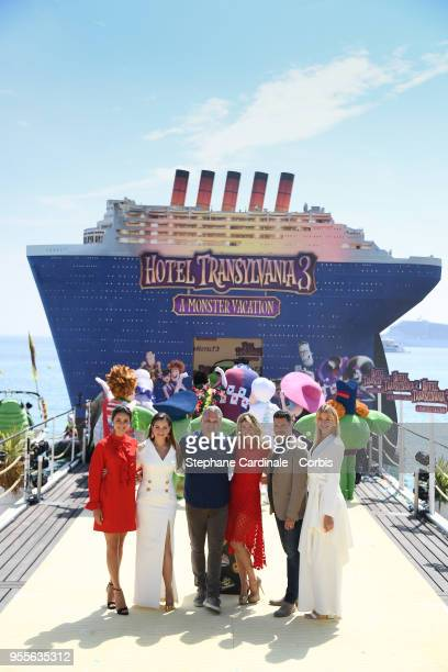 Janina Uhse Raya Abirached Genndy Tartakovsky Anke Engelke Rick Kavanian and Lesia Nikitiuk attend the photocall for Transylvania 3 during the 71st...