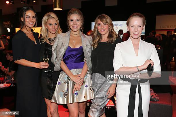 Janina UhseCaroline Daur Victoria Swarovski Luise Baehr and Susanne Wuest during the Tribute To Bambi after show party at Station on October 6 2016...