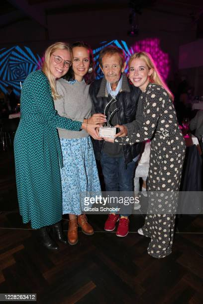 Janina Vilsmaier, Laura Roll, Gernot Roll and Josefina Vilsmaier with Joseph Vilmaier award, during the festival night and award ceremony of the 8th...