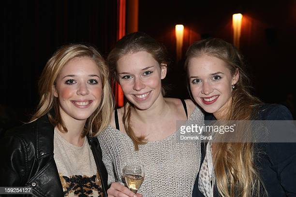 Janina Vilsmaier,Theresa Vilsmaier and Josefina Vilsmaier attend the reopening party of the Gloria Palace cinema on January 10, 2013 in Munich,...