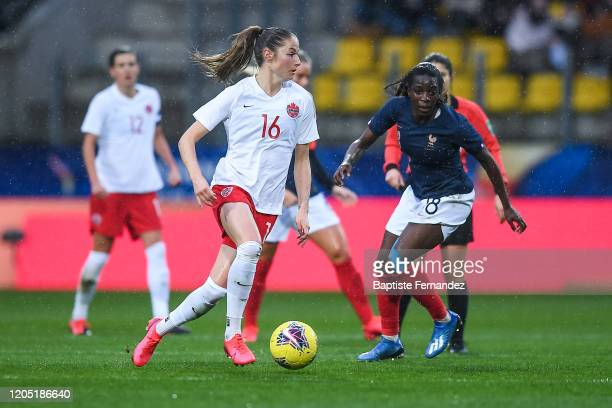Janine BECKIE of Canada during the Tournoi de France International Women's soccer match between France and Canada on March 4 2020 in Calais France