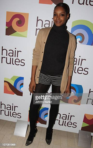 Janine Green attends the Your Choice Your Hair Your Rules Billboard launch at Vivid Lounge at The Renaissance Hotel on November 22 2010 in New York...