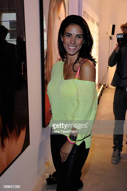 Janine Habeck attends the Niels Ruf Art Exhibition at Camera Works on May 29 2013 in Berlin Germany
