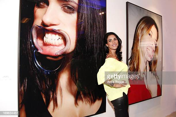 Janine Habeck attends the opening of the 'Niels Ruf Art Exhibition' at Camera Works on May 29 2013 in Berlin Germany