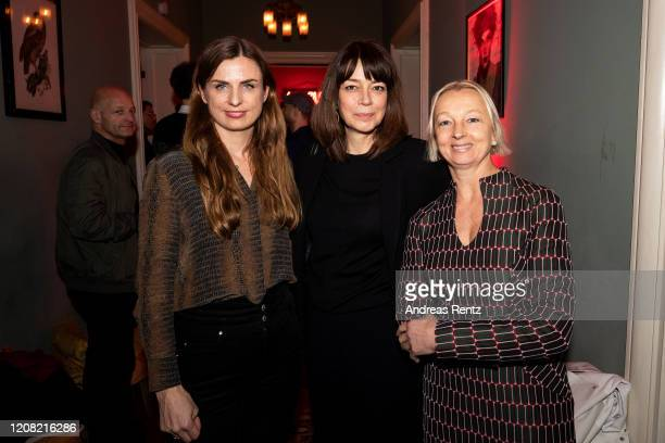 Janine Jackowski, Amelie Syberberg and Uli Putz attend the Netflix Content Cocktail during the 70th Berlinale International Film Festival Berlin at...
