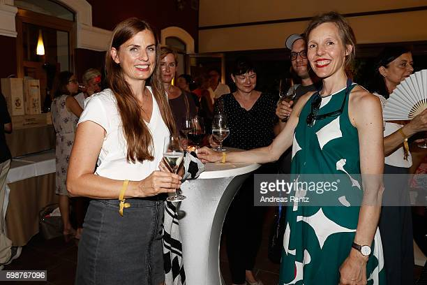Janine Jackowski and Donata Wenders attend the NRW reception during the 73rd Venice Film Festival at on September 2, 2016 in Venice, Italy.