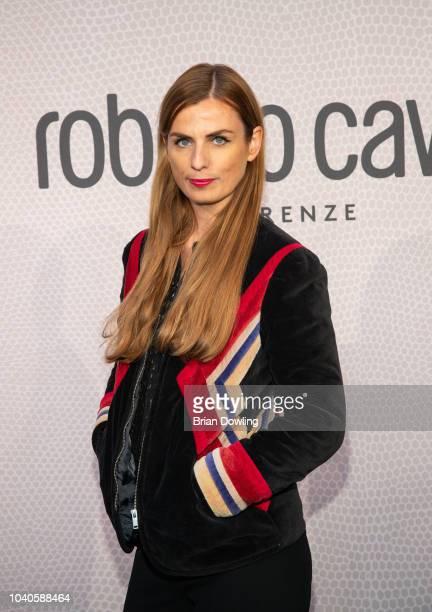 Janine Jackowski attends the Roberto Cavalli Berlin store opening on September 25, 2018 in Berlin, Germany.
