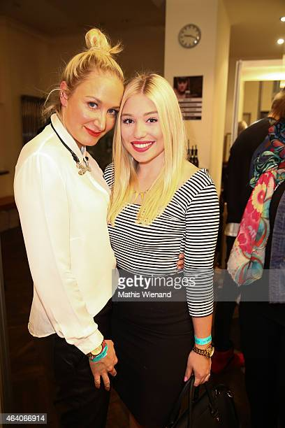 Janine Kunze and Bianca Heinicke attend the Tom Beck Record Release Party at 'die maske' on February 21 2015 in Cologne Germany