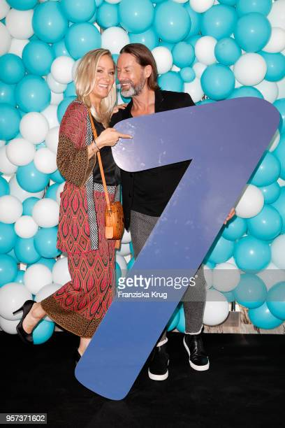 Janine Kunze and Dirk Budach are seen on board during the naming ceremony of the cruise ship 'Mein Schiff 1' on May 11 2018 in Hamburg Germany