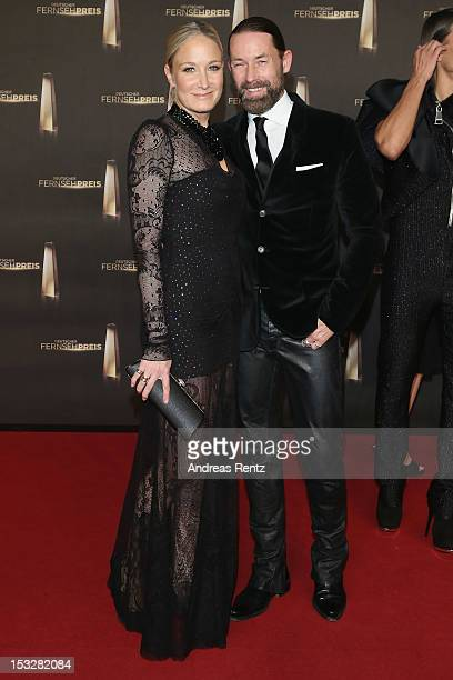Janine Kunze and Dirk Budach arrive for the German TV Award 2012 at Coloneum on October 2 2012 in Cologne Germany