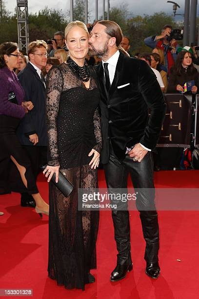 Janine Kunze and Dirk Budach attend the German TV Award 2012 at Coloneum on October 2 2012 in Cologne Germany