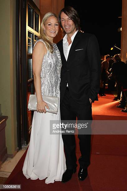 Janine Kunze and Dirk Budach attend the 'Hesse Movie Award 2010' at the Alte Oper on October 8 2010 in Frankfurt am Main Germany