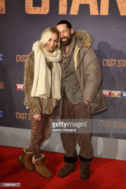 Janine Kunze and Dirk Budach attend the 'The Last Stand' Cologne Premiere at Astor Film Lounge on January 21 2013 in Cologne Germany
