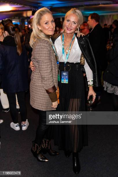 Janine Kunze and guest are seen at the premiere of the new Cirque du Soleil Show TOTEM on December 19 2019 in Dusseldorf Germany