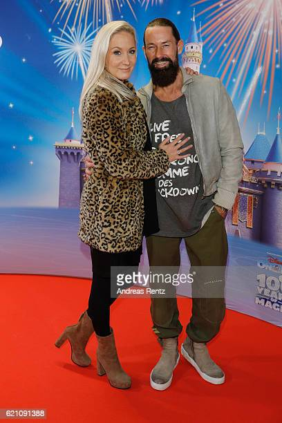 Janine Kunze and partner Dirk Budach attend the premiere of 'Disney on Ice 100 Jahre voller Zauber' at Lanxess Arena on November 4 2016 in Cologne...