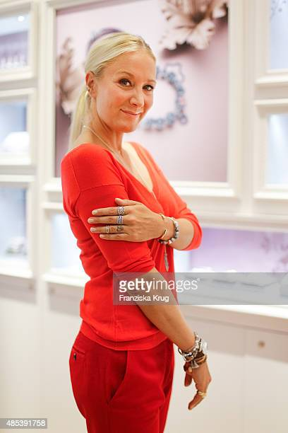 Janine Kunze attends the PANDORA Concept Store Opening on August 27 2015 in Cologne Germany