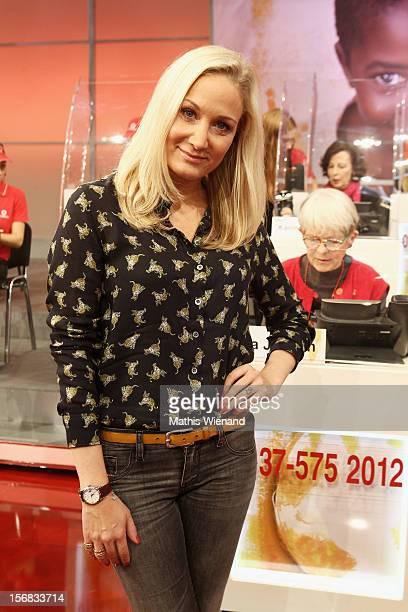 Janine Kunze attends the 'RTL Spendenmarathon' at RTL Studio Huerth on November 22 2012 in Cologne Germany