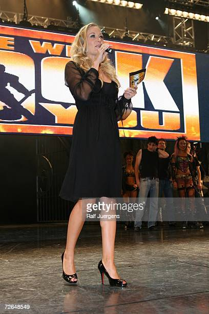 Janine Kunze hosts the ''We Will Rock You'' Charity Show on November 26 2006 in Cologne Germany