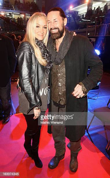 Janine Kunze with her husband Dirk Budach attend the 'Das Grosse Sat1 Promiboxen' at Castello on March 8 2013 in Dusseldorf Germany