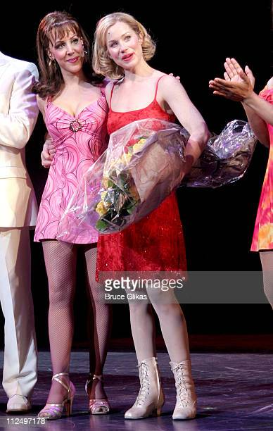Janine Lamanna and Christina Applegate during Christina Applegate's Broadway Debut in Sweet Charity at The Al Hirschfeld Theater in New York City New...