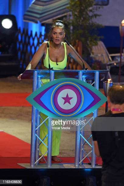 Janine Pink during the Promi Big Brother final at MMC Studios on August 23 2019 in Cologne Germany