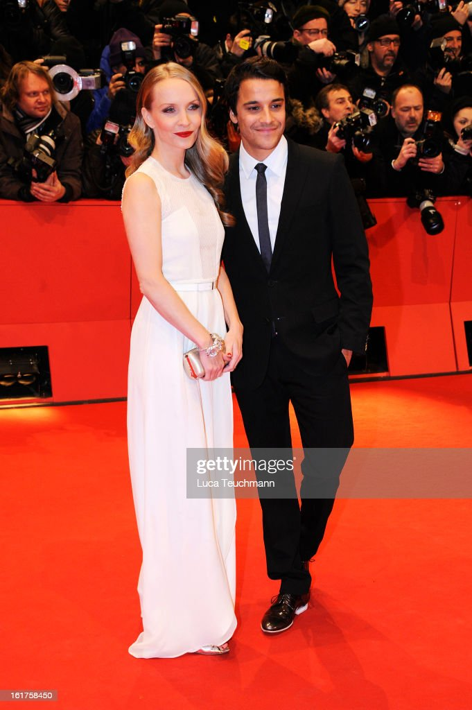 Janine Reinhardt and Kostja Ullmann attend the 'The Croods' Premiere during the 63rd Berlinale International Film Festival at Berlinale Palast on February 15, 2013 in Berlin, Germany.