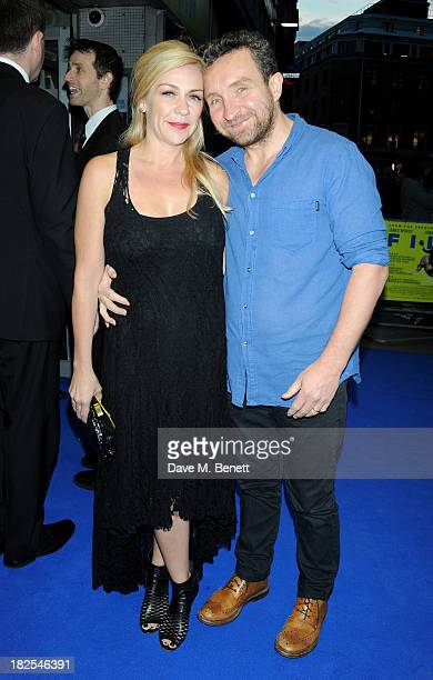 "Janine Schneider-Marsan and Eddie Marsan attend the London Premiere of ""Filth"" at the Odeon West End on September 30, 2013 in London, England."