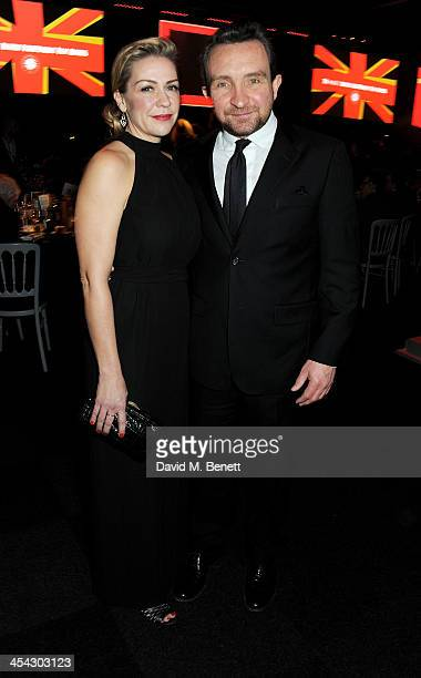 Janine Schneider-Marsan and Eddie Marsan attend the Moet Reception at the Moet British Independent Film Awards 2013 at Old Billingsgate Market on...