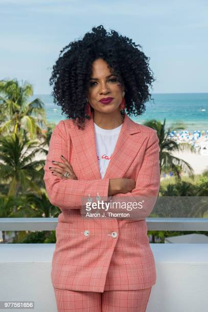 Janine Sherman Barrios poses for a portrait during the 22nd Annual American Black Film Festival at the Loews Miami Beach Hotel on June 16 2018 in...